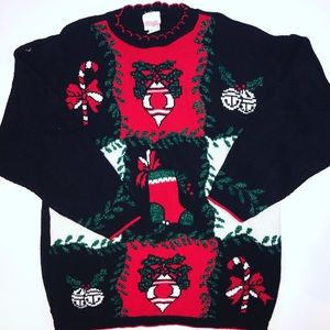 Holiday time oversized ugly Christmas sweater